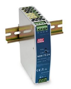 Compacte Industriële voeding DIN-RAIL Meanwell 24V 75W