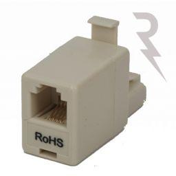 RJ45 (4/8) mannelijk  RJ11 (4/6) vrouwelijk adaptor