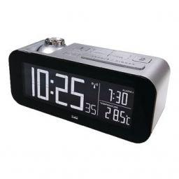 Zendergestuurde Wekker LCD Zilver / Zwart