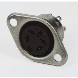 5-polige DIN connector - 270° - Vrouwelijk - Chassismontage