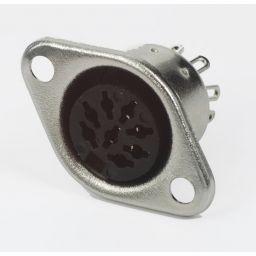 8-polige DIN connector - Vrouwelijk - Chassismontage