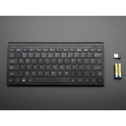Mini Wireless keyboard QWERTY aansluiting - zwart