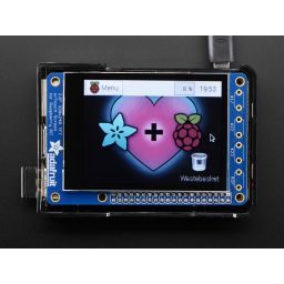 "PiTFT plus 320 x 240 2,8"" TFT Capacitive touchscreen Minikit"