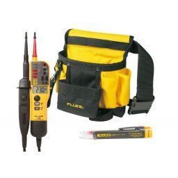 fluke-T150 met LVD2 spannings- tester en gereedschapsriem.