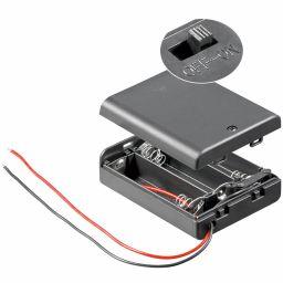 Batterijhouder voor 3AA cel