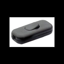 Dubbelpolige draadschakelaar 2A zwart