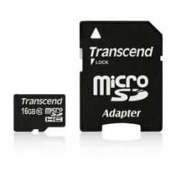 Transcend Micro SDHC geheugenkaart 16GB klasse 10