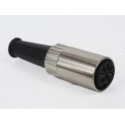 8-polige DIN connector - Vrouwelijk - Metaal - Voor op kabel