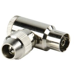Haakse coax connectoren coax vrouwelijk metaal