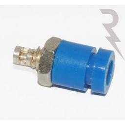 Geïsoleerde stekkerbus - Blauw - 2mm