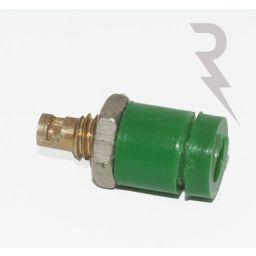 Geïsoleerde stekkerbus - Groen - 2mm