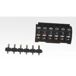 Connector kroonsteen vrouwelijk - 6-polig met recht printdeel