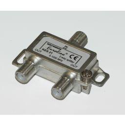 2-weg T-stuk met F-connectoren - 3x F Vrouwelijk