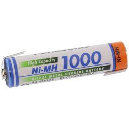 Herlaadbare AAA-batterij met soldeerlippen - Ni-MH - 1,2V 1000mAh