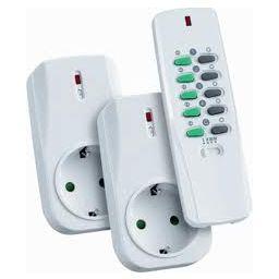 Set COCO met RF stopcontact x 2 + afstandsbediening 300W