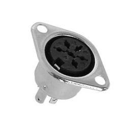 6-polige DIN connector - Vrouwelijk - Chassismontage
