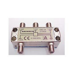 4-weg T-stuk met F-connectoren - 5x F Vrouwelijk