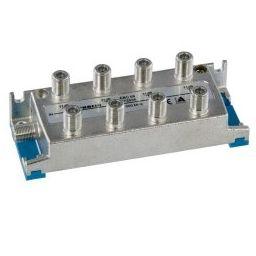 8-weg T-stuk met F-connectoren - 9x F Vrouwelijk