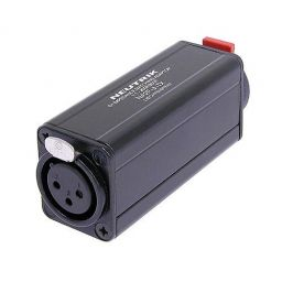 "Miniature transformer balancing adapter, 3 pole XLR vrouwelijk - 1/4"" jack, ground lifted"