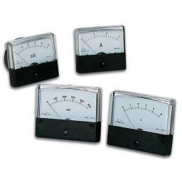 Analoge paneelmeter voor DC stroommetingen 100mA DC / 70 x 60mm