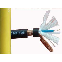 2x0,14 microfoonkabel OFC geel low noise Hi-Q 6mm diameter ***
