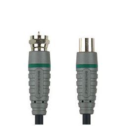 F-connector mannelijk  coax mannelijk - 2 meter
