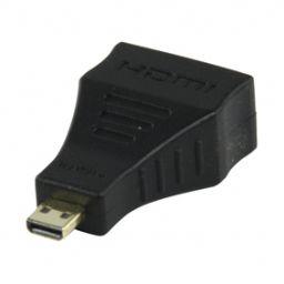 HDMI vrouwelijk  Micro HDMI mannelijk - Verguld