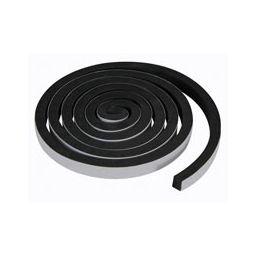 Schuimtape 10mm x 15mm x 2m zwart Poly-urethaan