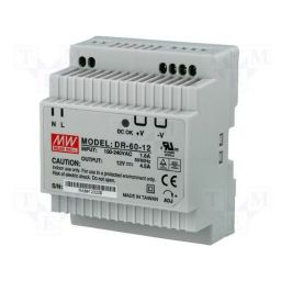 Industriële voeding voor DIN-RAIL - Meanwell - 12V 60W