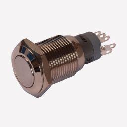 Dubbelpolige drukknop ON-(ON) 1A/24VDC 0,5A/230VAC