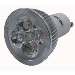 4x1W Ledlamp - GU10 - Koud wit - 230V AC
