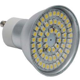 Led lamp GU10 - 60 SMD LEDs -Warm wit - 230V AC