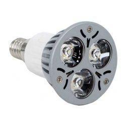 3x1W Ledlamp - E14 - Warm wit - 230V AC/DC