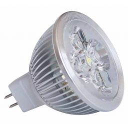 4x1W Ledlamp - MR16 - Koud wit - 12V AC/DC