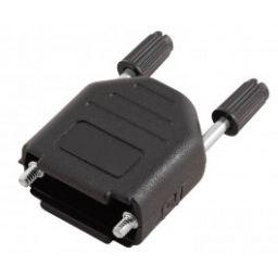 Plastic kap voor 9-polige SUB-D connectoren - Lange schroeven