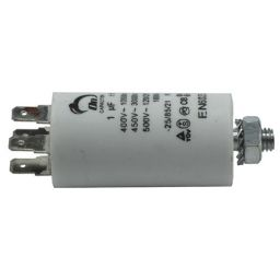 Motor run capacitor 1 µF 30x57mm 450Vac 5%  85°C