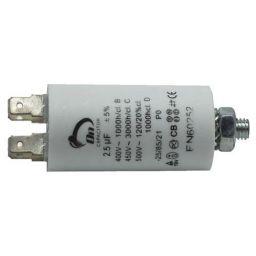Motor run capacitor 2,5 µF 30x57mm 450Vac 5%  85°C
