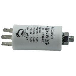 Motor run capacitor 4,5 µF 30x57mm 450Vac 5%  85°C