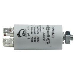 Motor run capacitor 6 µF 30x57mm 450Vac 5%  85°C