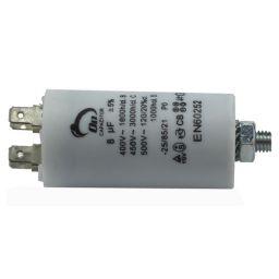 Motor run capacitor 8 µF 35x65mm 450Vac 5%  85°C