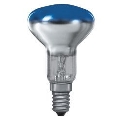 E14 -socket - R50 - 25W - 230V lamp - d=50mm / l=85mm - Blauw - 35°