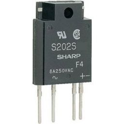 Solid State Relais SIP 4pin Met RC Netwerk 8A 8mA