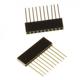 Connectorrij 1 x 10 pin male female - 2 stuks - P2.54