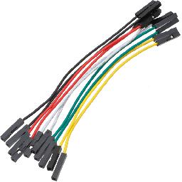Jumper wire oranje Female - Female - lengte: 10cm 10 stuks