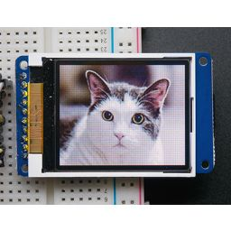 "1,8"" 18-bit color TFT LCD display with micro SD card breakout ST7735R"