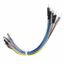 Jumper wire paars Male Female lengte: 15cm 10 stuks