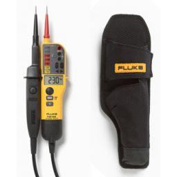 T- Voltage/Continuity Tester met LCD, ohm-meting en schakelbare belasting met gratis holster H15