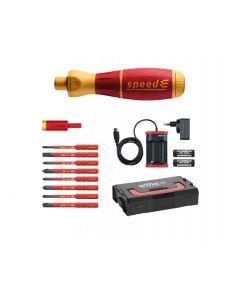 E-schroevendraaier set 2 speedE® 590 T102^ assorti 13-delig in L-Boxx Mini met slimBits, easyTorque-adapter, accu's en oplader EU