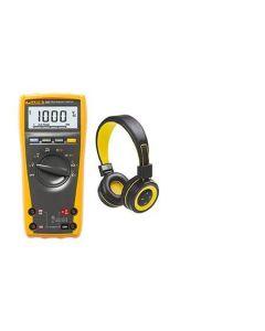 True RMS multimeter met alle belangrijke meetfuncties - PROMO met bluetooth headphone