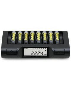 Powerex MH-C980 turbo lader / analyzer voor 8 AA/AAA batterijen